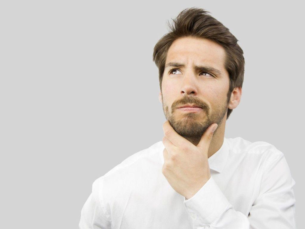 Hombre pensando Creatina ¿Buena o mala?