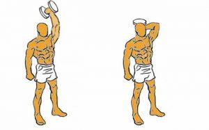 Triceps con mancuernas de pie ejercicios