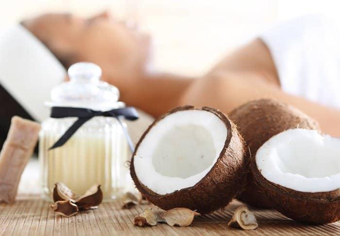 Mascarilla de aceite de coco coco