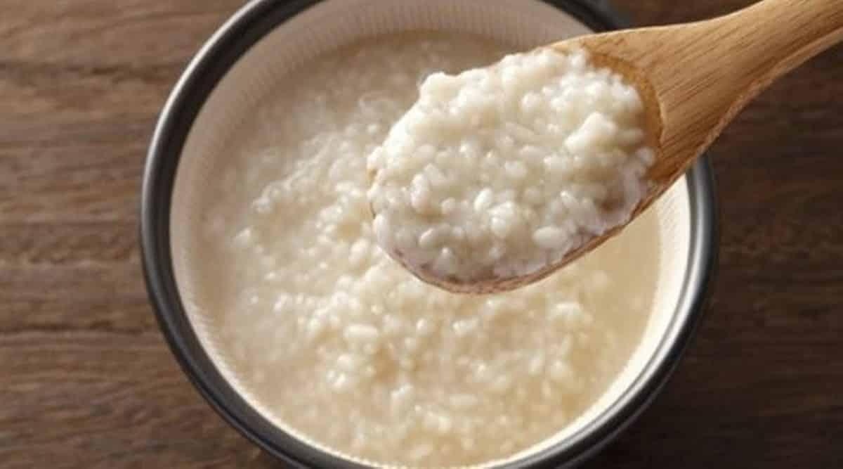mascarilla de arroz y miel preparacion