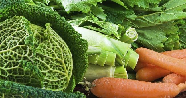 vegetales para subir presion