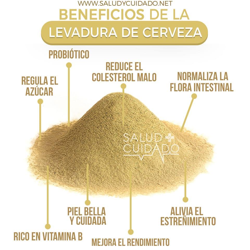 LEVADURA DE CERVEZA Beneficios y Propiedades para la Salud, Piel y Belleza