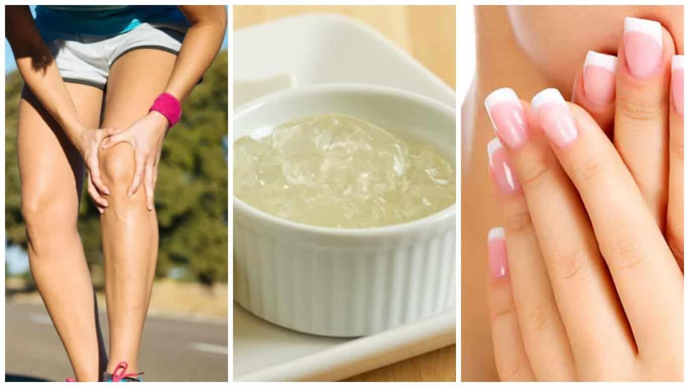beneficios de la gelatina fortalecer huesos y -uñas