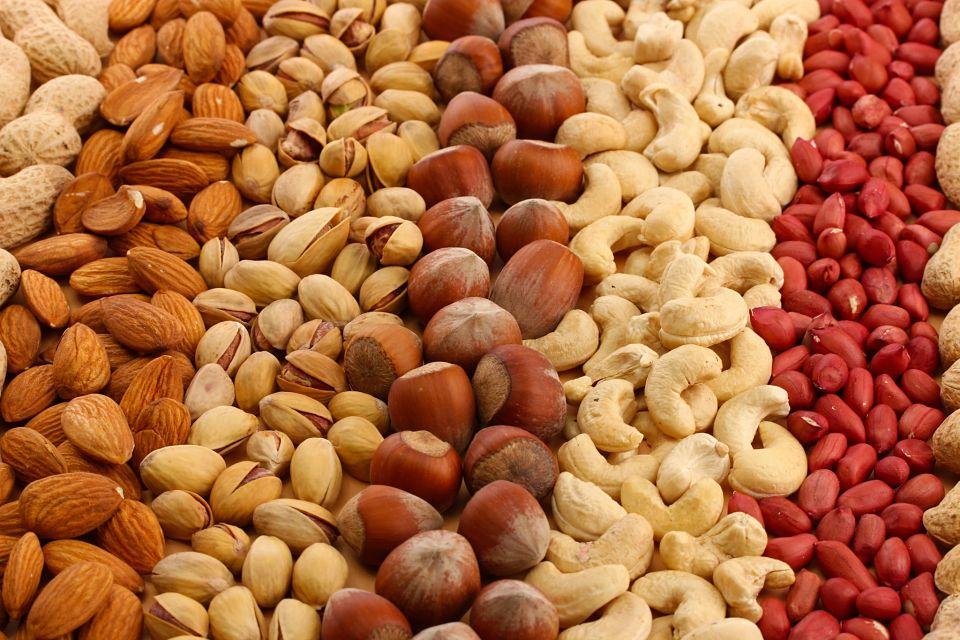 Frutos secos | Alimentos para aumentar masa muscular