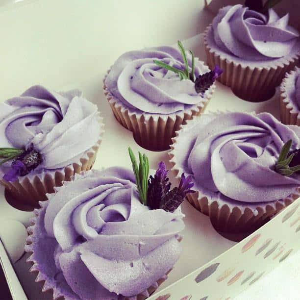 Cupcakes de lavanda