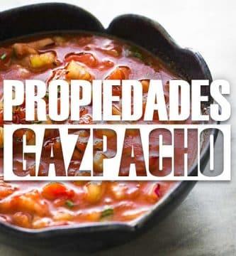 Propiedades del gazpacho