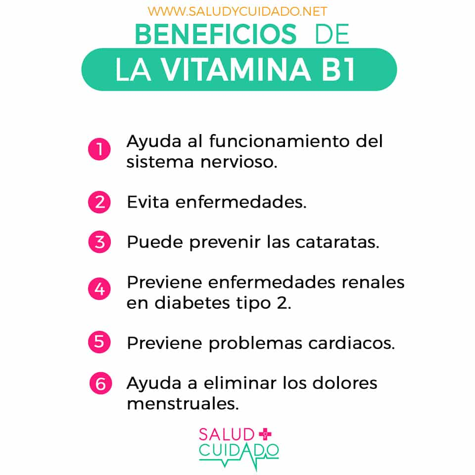 Beneficios de la VITAMINA B1